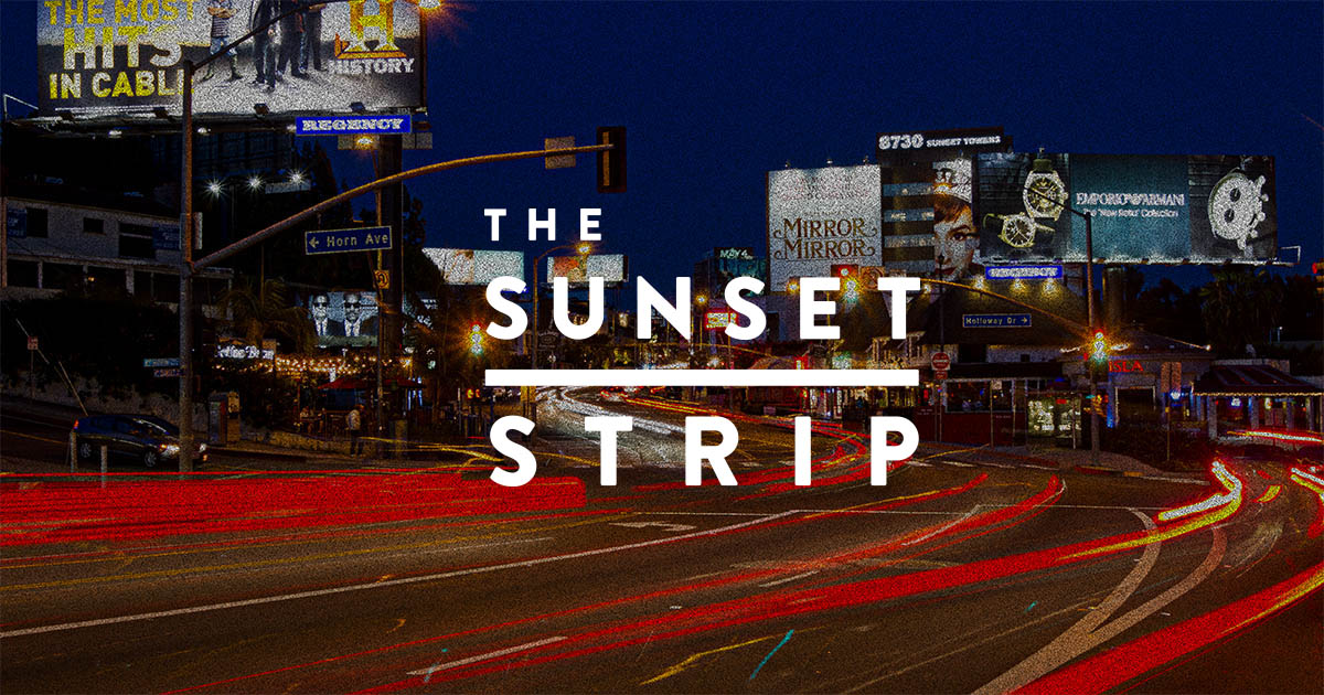 World-Famous Sunset Strip in West Hollywood, California